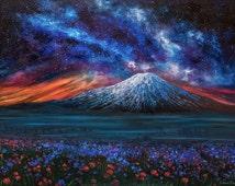 Fuji. Mountain Memories - oil painting by Salavat Fidai