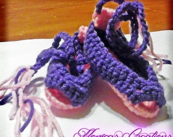 Handmade Crochet Ballerina Slippers- Many Sizes available