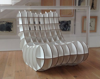 Chair of alveolar cardboard. Alveolar Cardboard Armchair, made to order