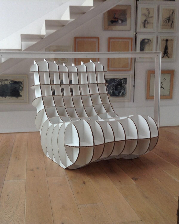 Chair Of Alveolar Cardboard Alveolar Cardboard Armchair Made