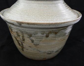 Mockingbird Gray Hand Thrown Pottery Large Casserole Dish