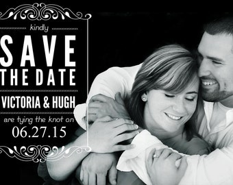 5x7 save the dates , Option of Glossy or Matte finish , Quantity 100
