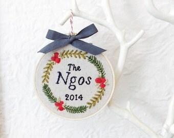 CUSTOM Family Keepsake Christmas Ornament
