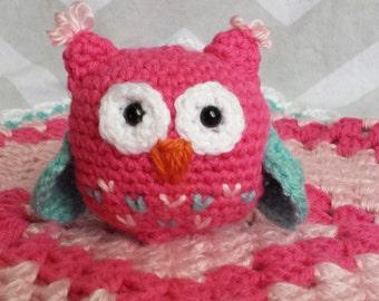 Crochet Owl Lovey