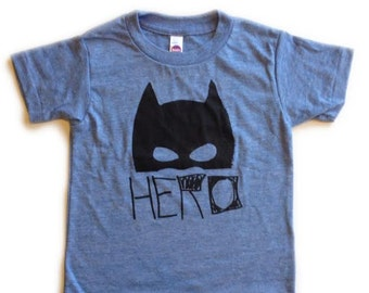 HERO kids tee on athletic blue