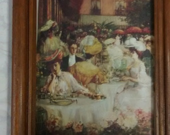 2 Victorian Art Prints Pictures Paintings Framed Wall Art 6.75 x 8.75