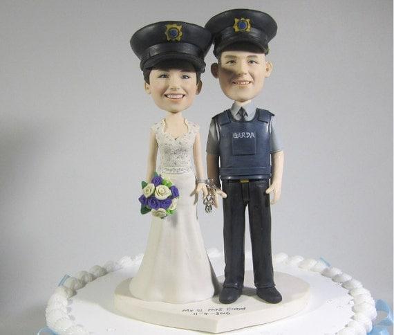Items Similar To Ireland Police Theme Wedding Cake Topper Funny Garda Uniform Cake Topper On Etsy