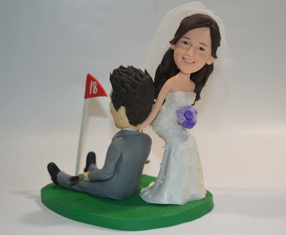Cake Decorating Golf Figures : Golf Cart Wedding Cake TopperPersonalized ToppersFunny