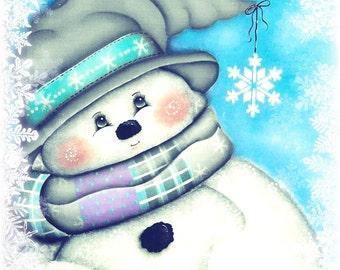 Swirly snowman pattern