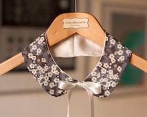Double-faced Liberty fabric and cream silk Peter Pan collar