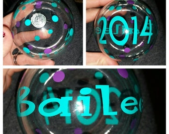 A personalized glass ornament