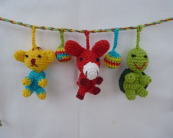 Stroller chain animal amigurumi crochet