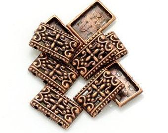 20pcs--Connectors, 3 holes, Antique Copper (B13-8)