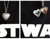 Star Wars R2-D2 & C3PO Droids Heart Locket Necklace