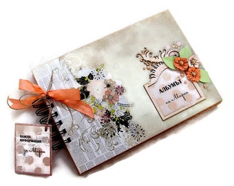 Personalized Scrapbook Mini Album, Vintage Style Photo Book, Personalized Photo Album, Scrapbook Mini Album, Scrapbook Photos Album