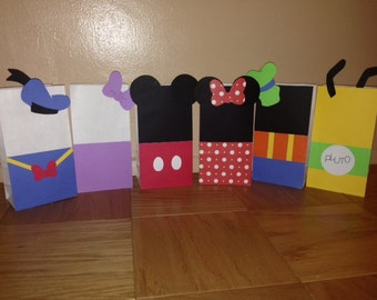 Mickey Mouse Clubhouse Party Bags | Birthday Party | First Birthday | Party Decor | Favor Bags