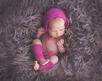 Newborn Set, Newborn Bonnet, Simple Bonnet, Newborn Legwarmers, Photo Prop Set, Photography Prop