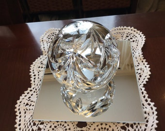 Crystal Hollow Orb Ball Paperweight Made In Poland  24 percent