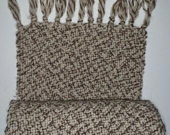 Hand woven fisherman's wool scarf