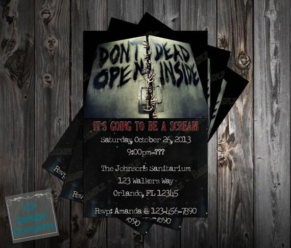 Walking Dead Birthday Party Invitation (Tall)