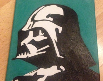 Darth Vader hand made painted using oils on vanvas