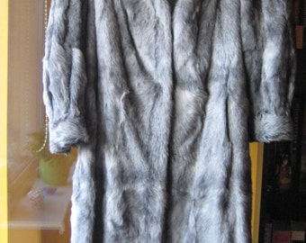 Mountain goat fur coat, soft and light, made in 1990.