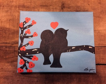 Love Birds Acrylic painting