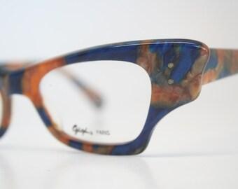 Unusual Designer Eyeglass Frames : Reserved: Vintage Eyeglasses Unused Unique by ...