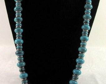 Monet Faux Turquoise Vintage Necklace