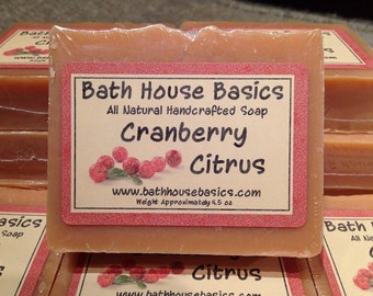 Cranberry Citrus Handcrafted Soap