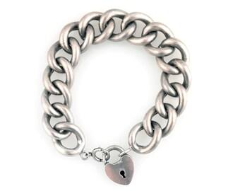 Sterling Victorian Bracelet with Locket