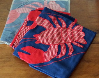 A set of 4 lobster napkins
