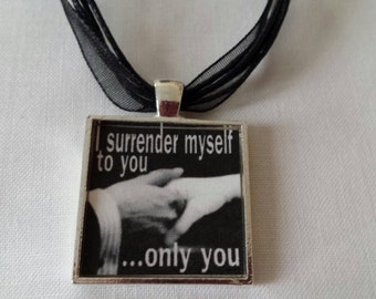 BDSM Submissive Dominant Jewelry Submission Domination Dom Sub Master Sir Surrender D/s Kinky Fetish Lifestyle Necklace Pendant