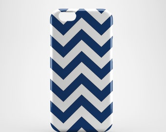 Blue & White Chevron Phone case,  iPhone X Case, iPhone 8 case,  iPhone 6s,  iPhone 7 Plus, IPhone SE, Galaxy S8 case, Phone cover, SS130c