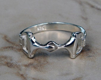 Sterling Silver Equestrian Horse Snaffle Bit Ring Superb Quality