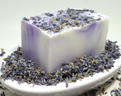 Luscious Lavender Soap- lavender soap, handmade soap, cold process soap, dry skin, lavender bud soap, soap gift, real lavender soap, natural