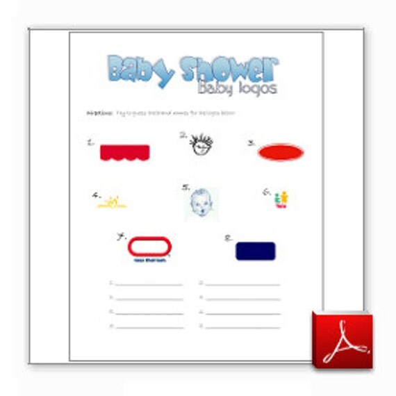 Items Similar To Printable Baby Shower Game