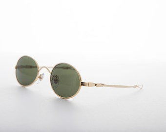 Vintage Oval Spectacle Steampunk Victorian Sunglass with Adjustable Sliding Temples -Miyazaki