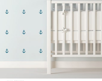 Anchor Vinyl Wall Decals - great for a nautical nursery, coastal living