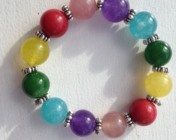 Candy Jar Collection children's colourful Agate bracelet