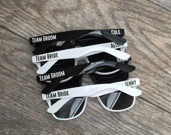 Personalized sunglasses - Team Bride - Team Groom -  bachelorette party - wedding favor - bachelor party - girls night - graduation