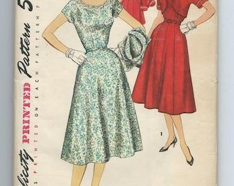 Simplicity 1062  Vintage 1955 One-Piece Dress with Bolero Jacket