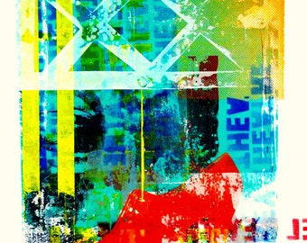 Urban Palimpsest 2   Original screen print
