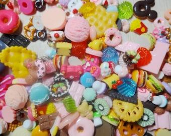 100pcs+ Kawaii resin food cabochon for decoration