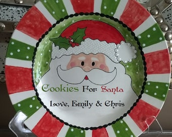 Personalized Cookies for Santa Plate Only or Milk for Santa Mug Only