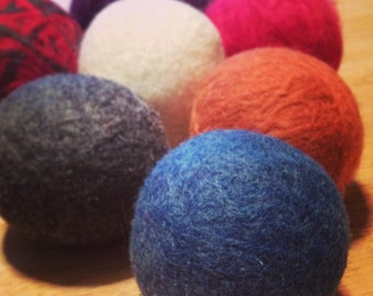 Felted Wool Dryer Balls, Set of 4 - You Choose the Colors