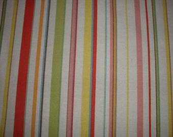 oversized Fat quarter Ralph lauren HARBOR VIEW stripe fabric cotton quilt quilting