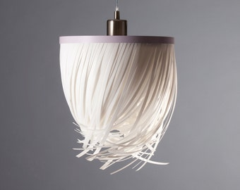 Hanging lamp of Twister HL Rosé - white