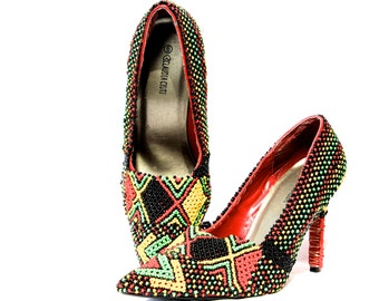 Hand  Beaded pumps size 38