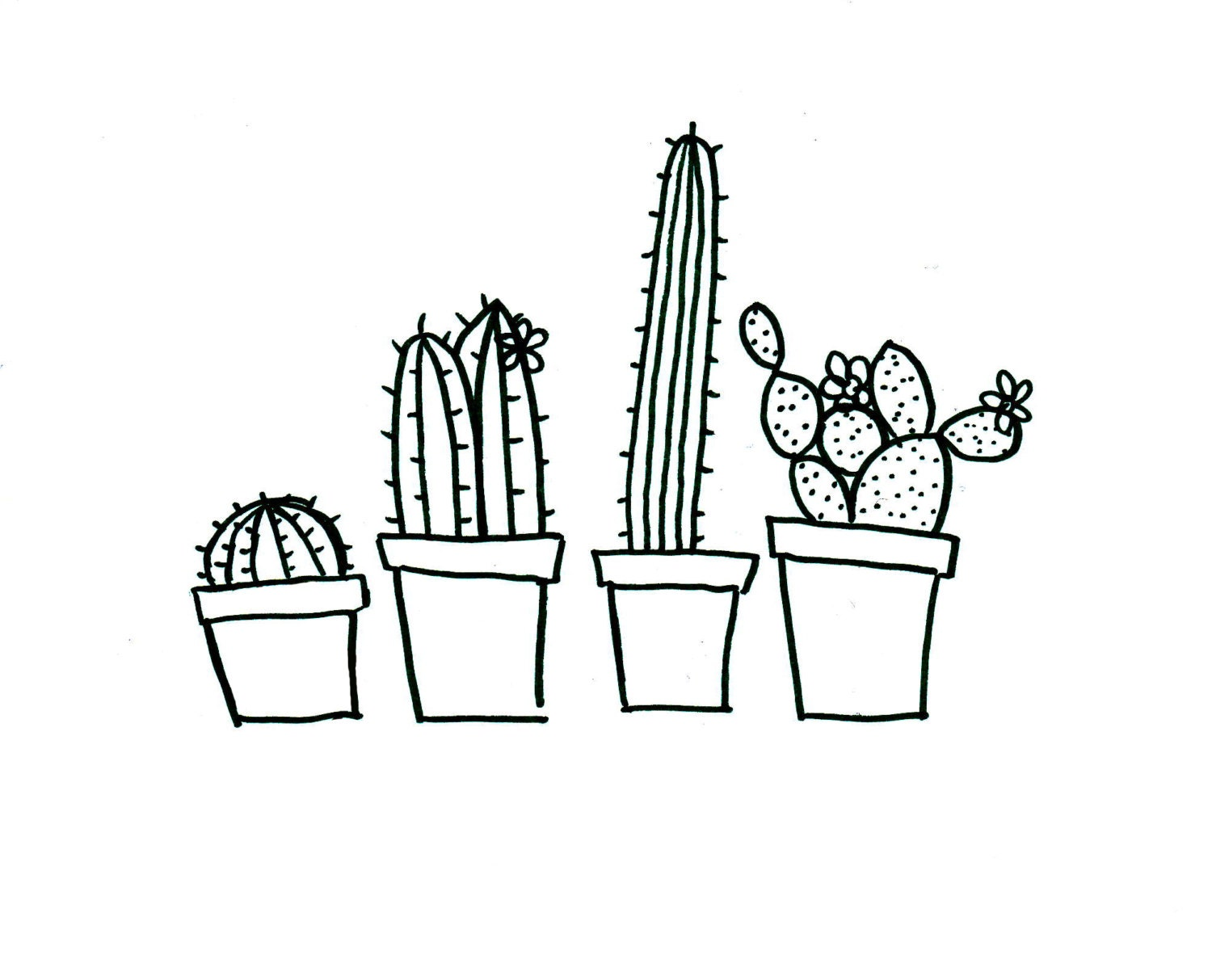 Quirky cactus hand embroidery pattern pdf download